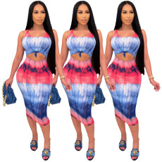 Fashion positioning tie dyed dress