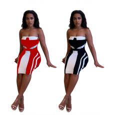 Fashion bra print dress