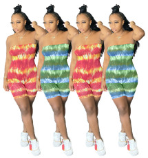 Fashion tie dyed mixed color Jumpsuit