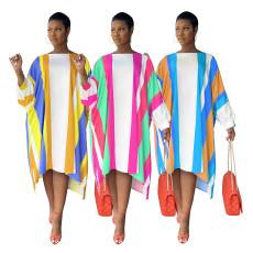 Fashion print loose dress