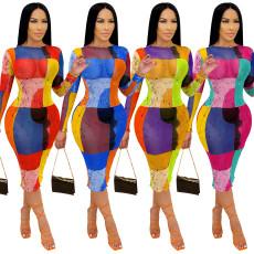 Sexy Screen perspective digital print dress