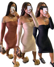 Sexy tight Pleated Dress