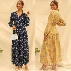 Print V Floral Dress