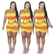 High waist Halter Dress