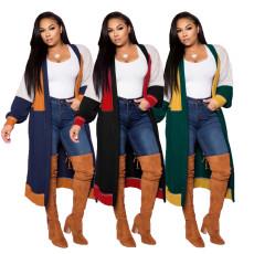 Fashion simple stitching cardigan