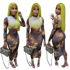 Fashion positioning screen dress