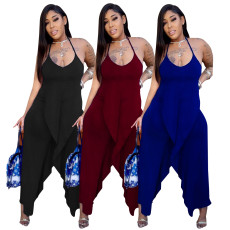 Casual fashion nonstandard loose Jumpsuit