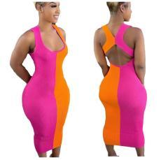 Fashion patchwork dress