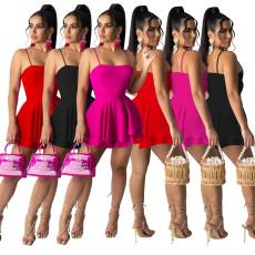 Fashion solid Mini Dress
