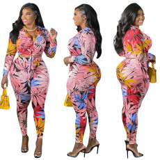 Snake Print bandage two piece suit