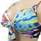 Fashion printed bikini three piece suit