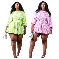 Loose print dress