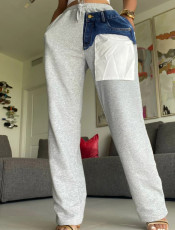 High waisted corset solid flared split pants