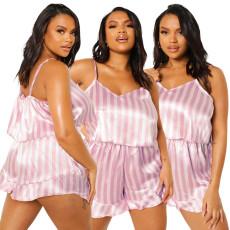 Fashion suspender Pajama Jumpsuit