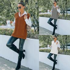Fashion sleeveless vest vest sweater