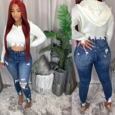 Holed stretch jeans Leggings