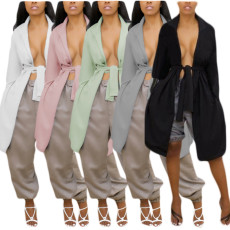 Back cut-out trench coat