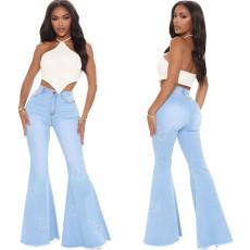 Fashionable wide leg flared pants