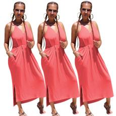 Fashion suspender dress