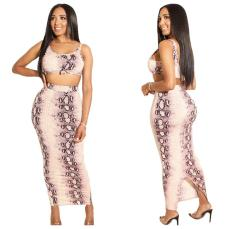 Close fitting dress with exposed navel and buttocks