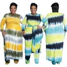 Tie dyeing fashion leisure two piece set