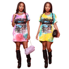 Casual loose T-shirt dress