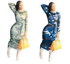 Fashion tight camouflage dress