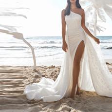 One shoulder sleeveless dress