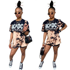 Personalized printed short sleeve suit