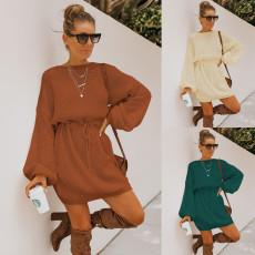 Fashion high waist knitted dress