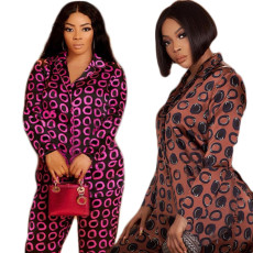 Two piece printed casual set