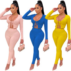Sexy body shaping casual solid color suit