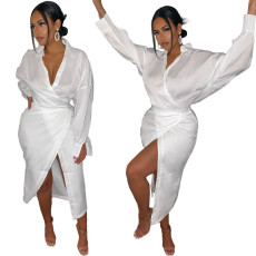 Bandage split dress