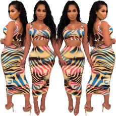 Printed casual two piece set