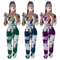 Printed casual Jumpsuit with waistband