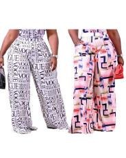 Diagonal pocket printed pants
