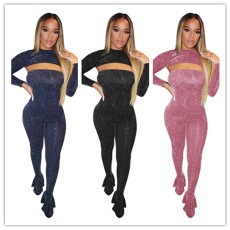 Sexy one-piece flared pants two-piece set