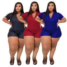 Fashion zipper Jumpsuit