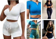 Sexy seamless zipper drawstring Yoga Top