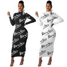 Fashion printed simple dress