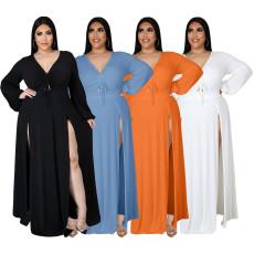 Sexy fashion V-neck dress