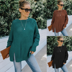 Fashion hollowed out sweater loose sweater