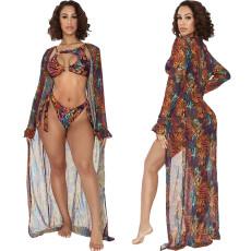 Sexy perspective mesh cardigan cloak coat