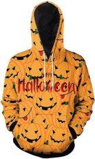 Halloween digital print drawstring Top Men's