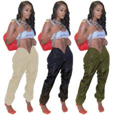 Fashion zipper casual pants
