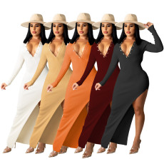 Sexy slim backless dress