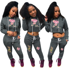 Fashion casual hat two piece set