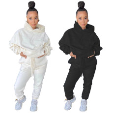 Loose sports casual Hoodie two piece set