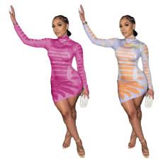Fashion irregular print dress