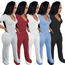 Fashion back zipper Jumpsuit
